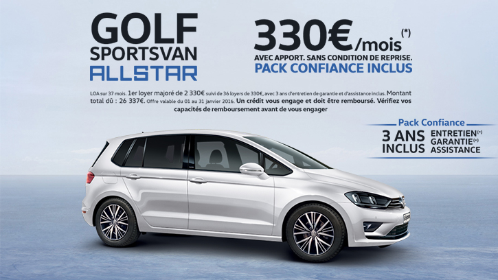 golf sportsvan allstar du 1er au 31 janvier 2016 algauto deauville touques. Black Bedroom Furniture Sets. Home Design Ideas