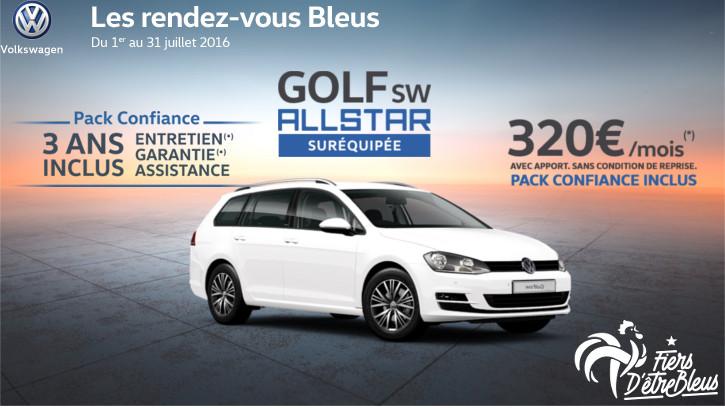 Golf sw allstar sur quip e du 1er au 31 juillet 2016 for Garage volkswagen grand quevilly