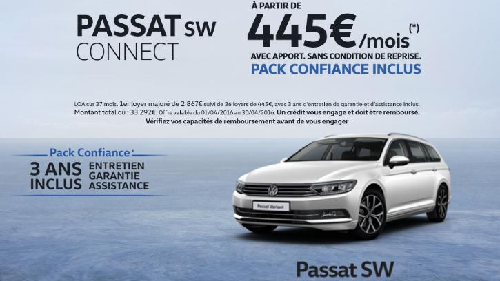 Passat sw connect du 1er au 30 avril 2016 gcc cl on for Garage volkswagen grand quevilly
