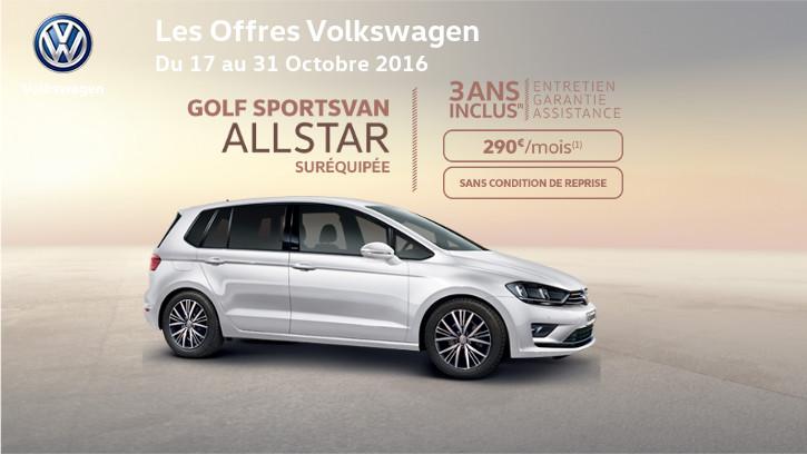Golf sportsvan allstar sur quip e gcc cl on for Garage volkswagen grand quevilly