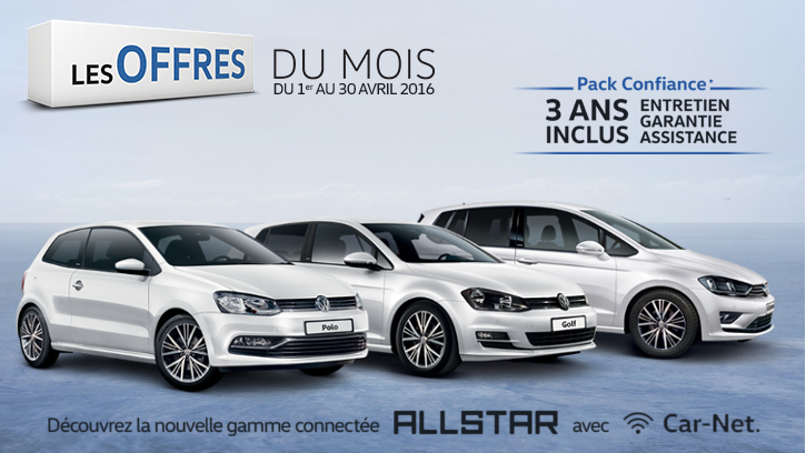 Les offres du mois du 1er au 30 avril 2016 gcc cl on for Garage volkswagen grand quevilly